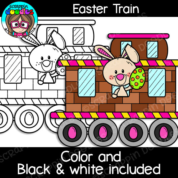 Easter Train Clip Art
