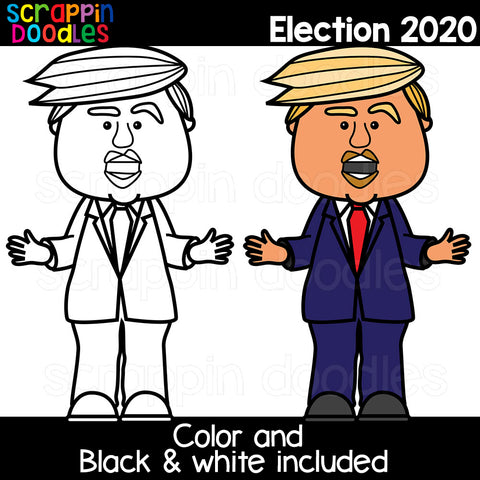 Election 2020 Clipart Donald Trump Joe Biden