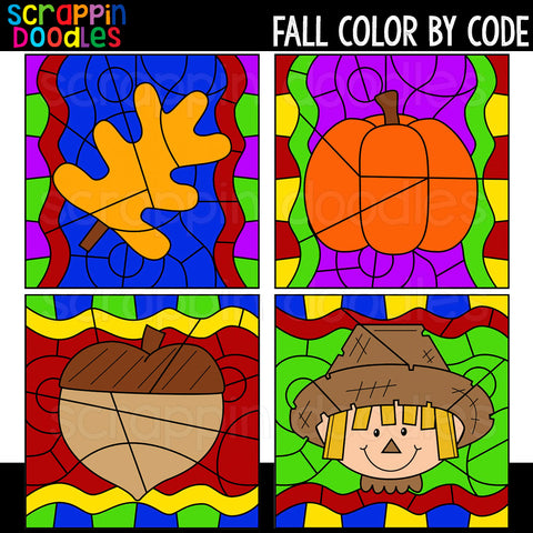 Fall Color By Code Templates