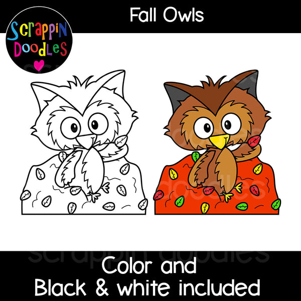 Fall Owls Clip Art autumn