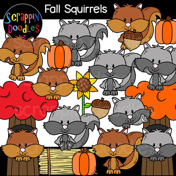Fall Critters Clip Art Bundle