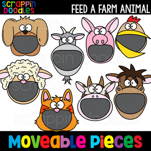 MOVEABLE IMAGES -Feed A Farm Animal Clip Art