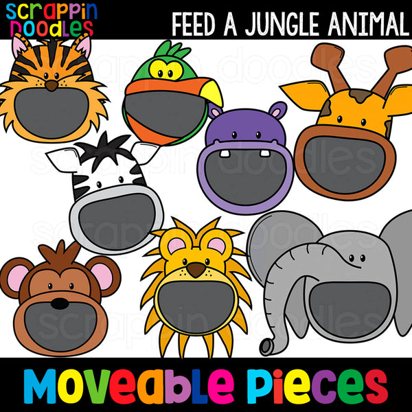 MOVEABLE IMAGES -Feed A Jungle Animal Clip Art