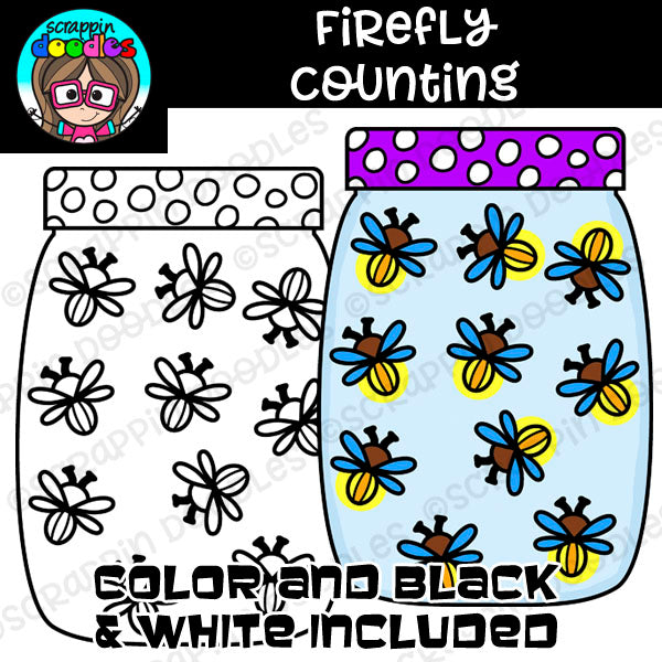 Firefly Counting Clip Art