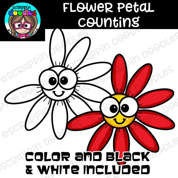 Flower Petal Counting Clip Art