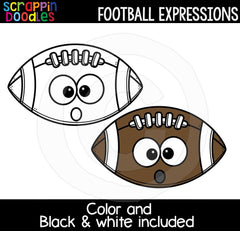 Football Facial Expressions Clip Art