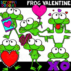 Frog Valentine Clip Art Commercial Use Valentines Day Graphics