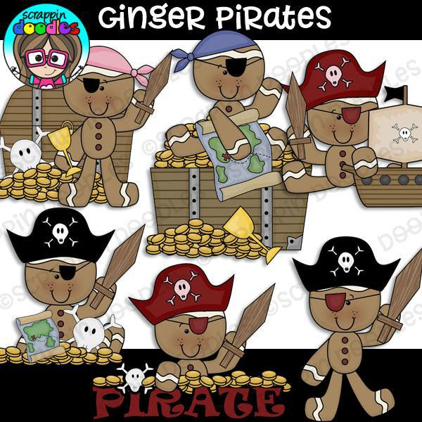 Pirate Gingers Clip Art