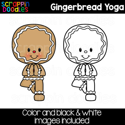 Gingerbread Yoga Clip Art