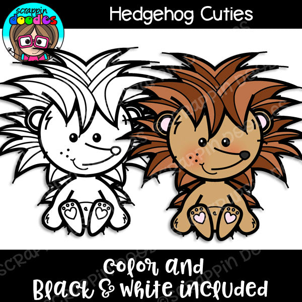 Hedgehog Cuties Clip Art