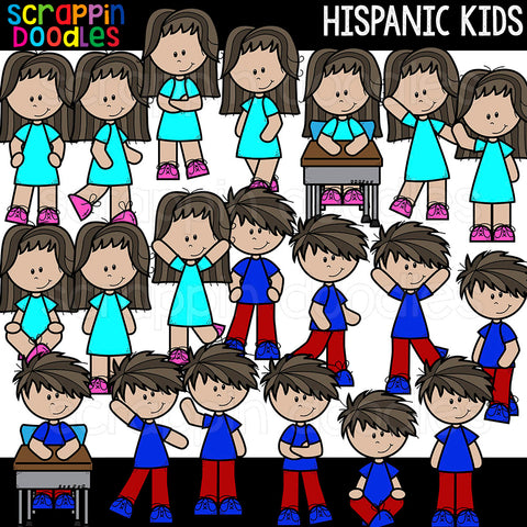 Hispanic Kids Clip Art Commercial Use Multicultural Children