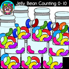 Jelly Bean Counting Clip Art