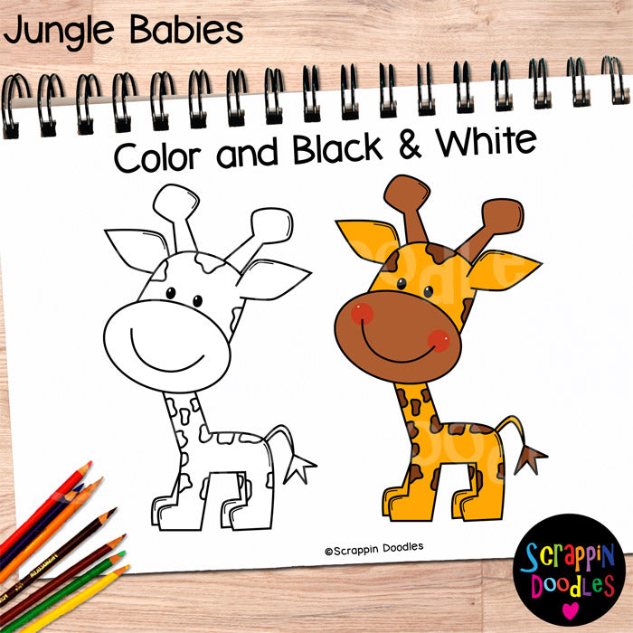 Jungle Babies Clip Art