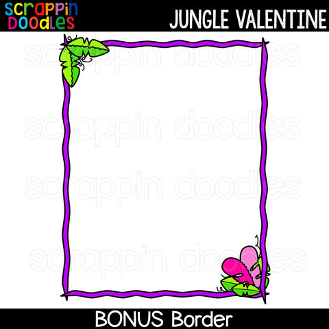 Jungle Valentine Clip Art