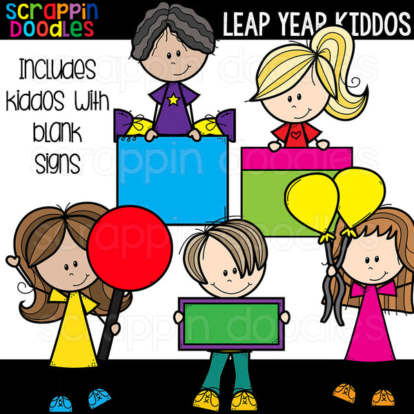 Leap Year Kiddos Clipart Kids Commercial Use