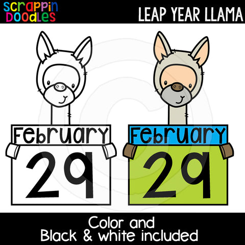 Leap Year Llama Clip Art Commercial Use