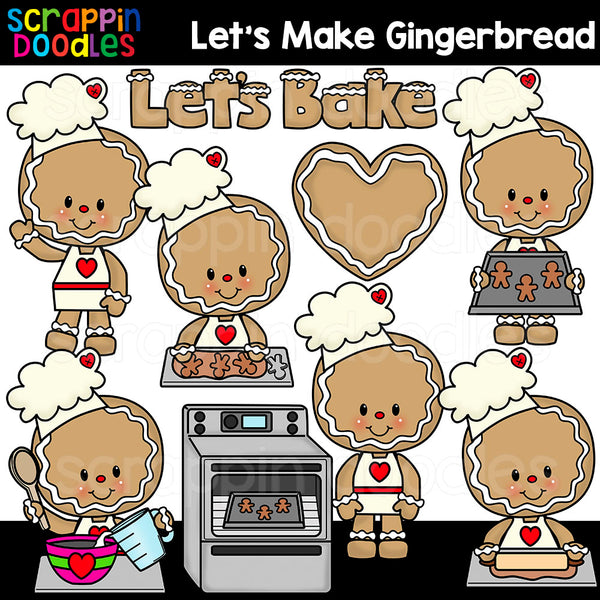 Let's Make Gingerbread Clip Art