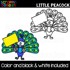 Little Peacocks Clip Art