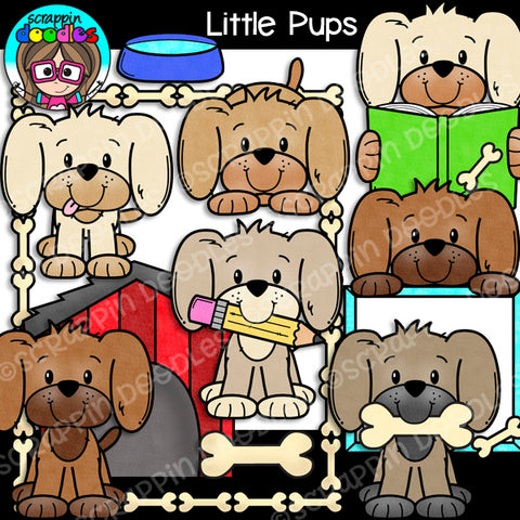 Little Pups Clip Art