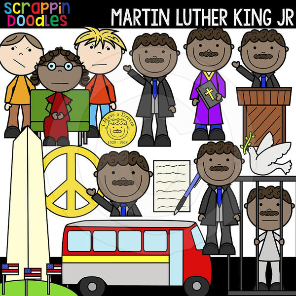 Martin Luther King Jr Clip Art Commercial Use