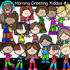 Morning Greeting Kids Clip Art