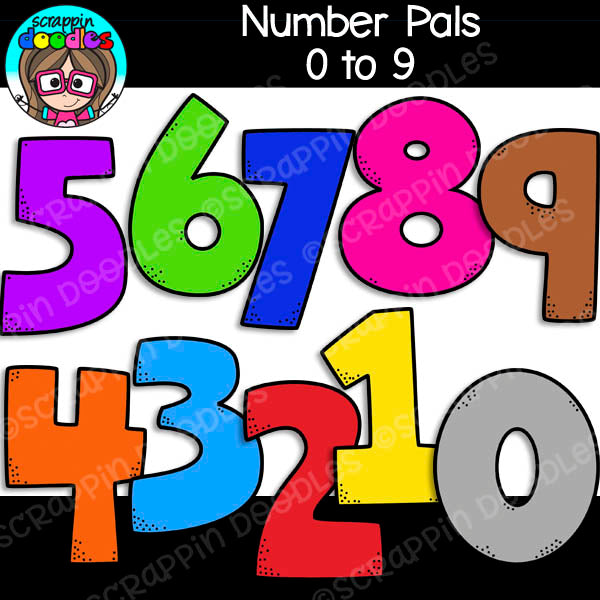 Number Pals Clip Art People with eyes