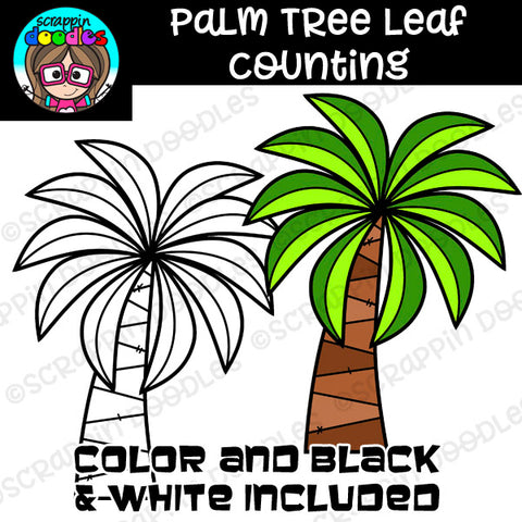Palm Tree Leaf Counting Clip Art