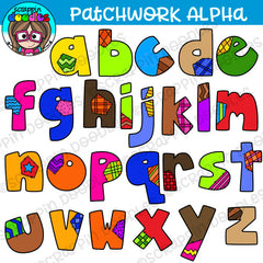 Patchwork Lower Case Alphabet Clipart