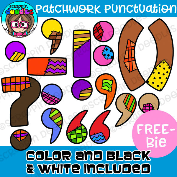 Patchwork Punctuation FREEBIE Clipart