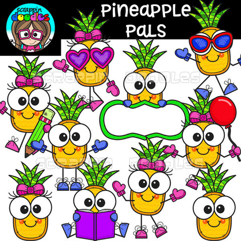 Pineapple Pals Clip Art