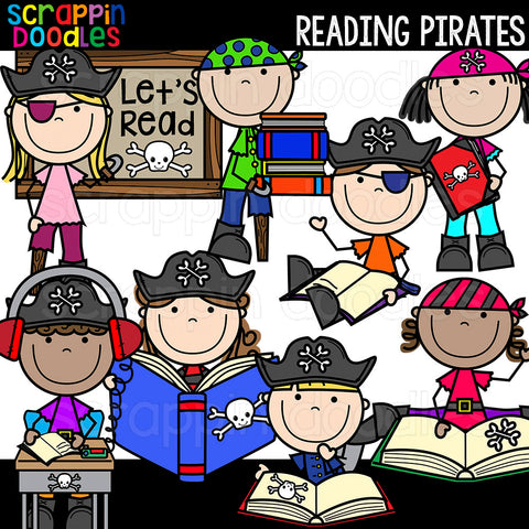 Reading Pirates Clip Art Commercial Use
