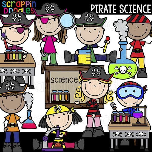 Pirate Science Clip Art School Kids Commericial Use