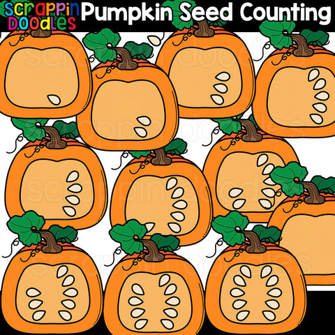Counting Pumpkin Seeds Clipart