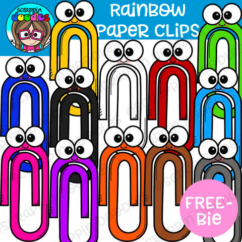 {FREE} Rainbow Paper Clips Clip Art
