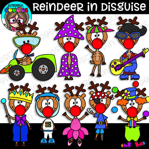 Reindeer In Disguise Clipart