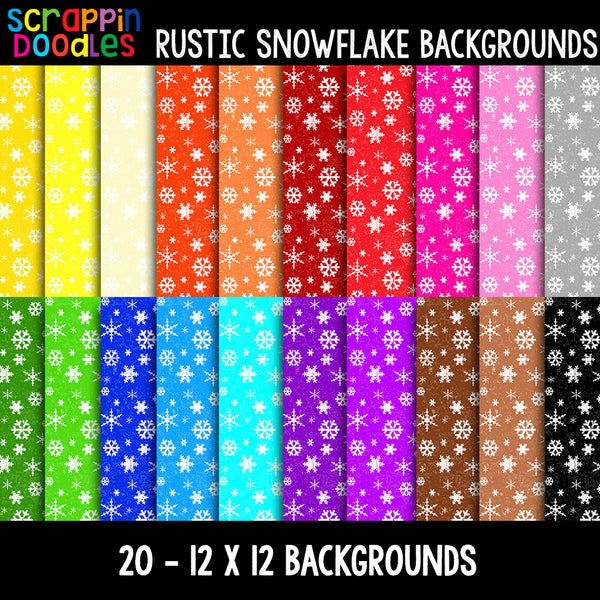 "Rustic Snowflake 12"" x 12"" Backgrounds"