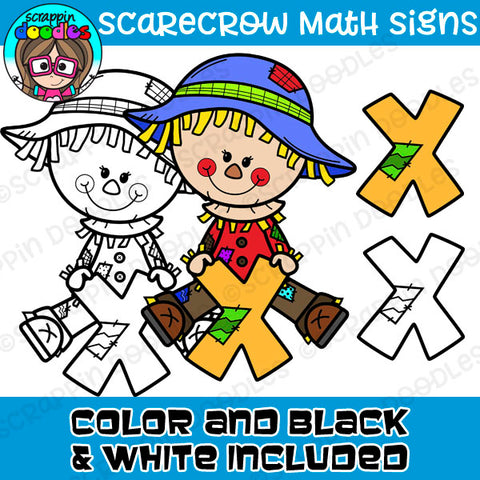 Scarecrow Math Signs Clipart