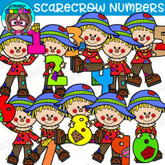 Scarecrow Numbers Clipart