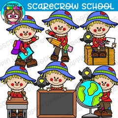Scarecrow School Bundle Clipart
