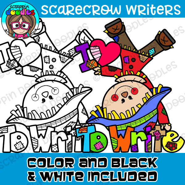 Scarecrow Writers Clipart