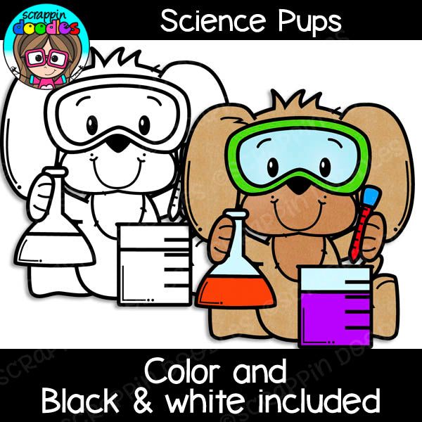 Science Pups Clipart