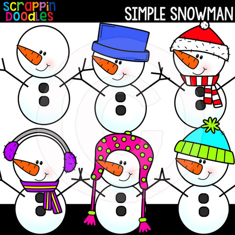 Simple Snowman Clip Art Snowmen