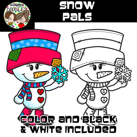 Snow Pals - Cute Snowman Clip Art