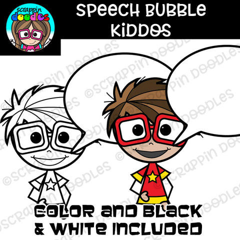 Speech Bubble Kiddos Clipart