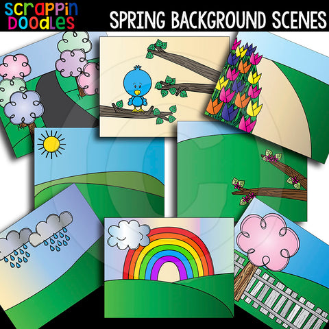 Spring Background Scenes Seasonal Backgrounds