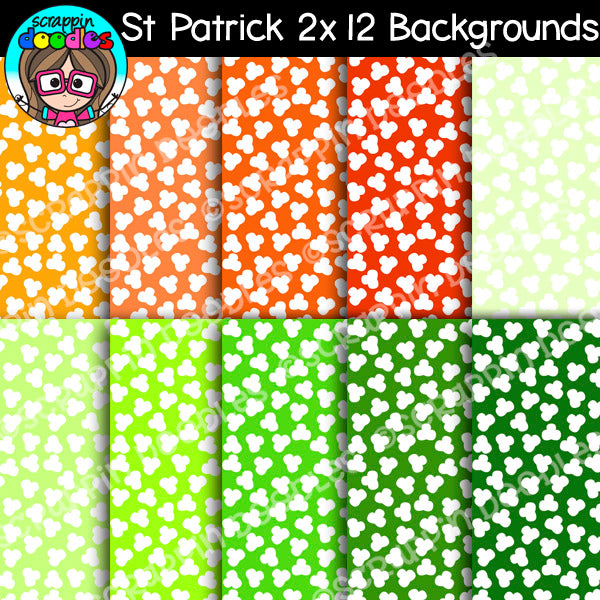 St Patrick's 12x12 Backgrounds