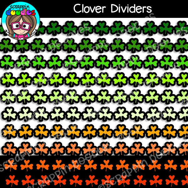 St Patrick's Day Clover Dividers