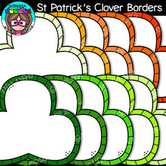 St Patrick's Day Clover Borders