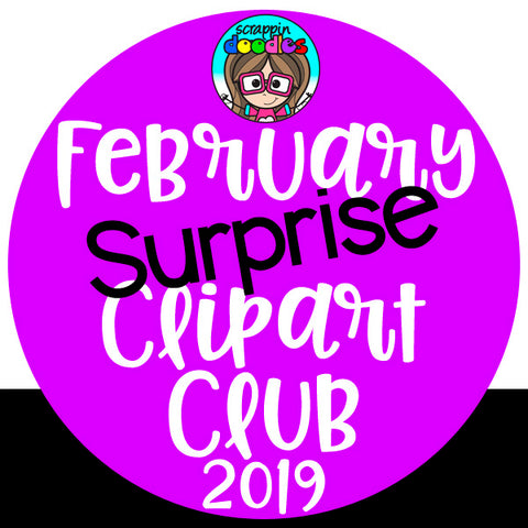 February Surprise Clip Art Club 2019 {Approx $17 Value}