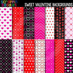 "Sweet Valentine 12"" x 12"" Backgrounds"